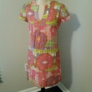 Trina  Turk Cotton Print Tunic Dress
